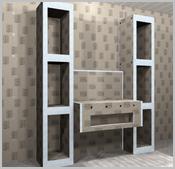 Mit geraden Platten - Das Regal mit Waschtisch-Unterkonstruktion | {Waschtisch selber bauen bauplatten 76}