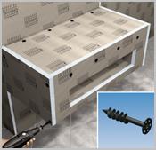 Waschtisch selber bauen bauplatten  Mit geraden Platten - Das Regal mit Waschtisch-Unterkonstruktion