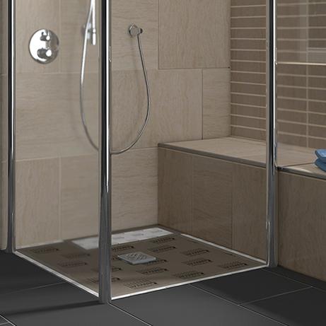 Lux elements tub combi receveurs de douche extra plat for Douche italienne avec receveur