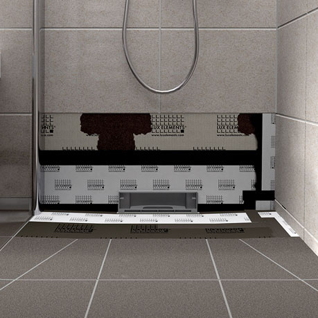 lux elements tub wall shower base with integrated wall drain. Black Bedroom Furniture Sets. Home Design Ideas
