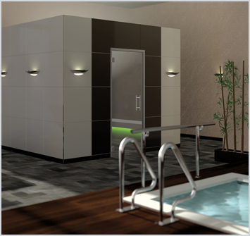 h2o Baucenter LuxElements Wellness termékek és gőzkabinok