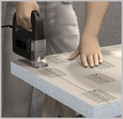 avec des panneaux droits l habillage de baignoires avec tablette. Black Bedroom Furniture Sets. Home Design Ideas