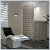 LUX ELEMENTS RELAX®- JUNIOR - Corner shower with a glass door