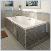 LUX ELEMENTS®- TOP-TRS - The cladding element for standard shower tubs