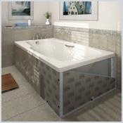 Lux elements top habillages pour baignoires standard for Mesure standard baignoire