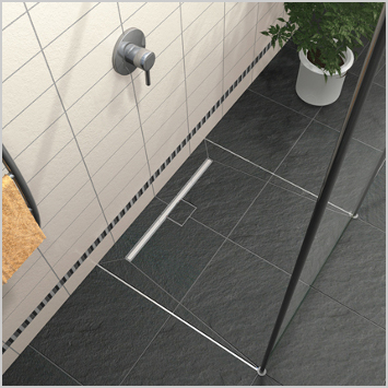 wedi building panel and Fundo shower pan to offer the only complete tile