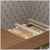 Tuyaux douche italienne sur un plancher bois for Douche italienne sur plancher