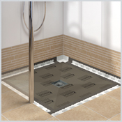 LUX ELEMENTS TUB® - The flush with the floor shower base for one-point drainage