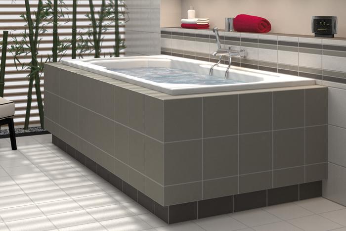 LUX ELEMENTS LMONZ1009 Mont-TOPREV Ouvertures de r/évision pour baignoire Argent/é