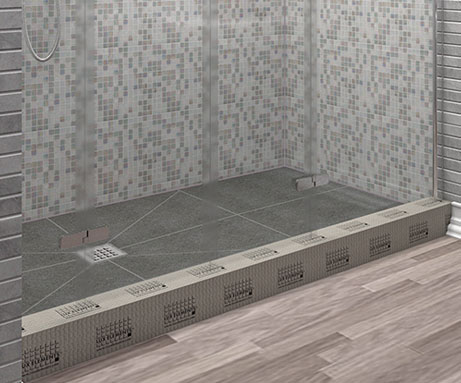 water stops, prefabricated shower curbs