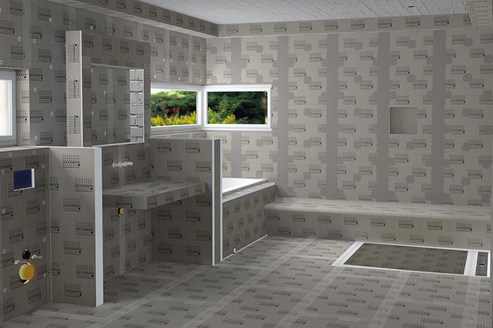 Lux elements s a s panneaux pr ts carreler et pi ces - Wedi salle de bain ...