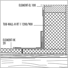 LUX ELEMENTS® TUB-WALL - Shower drain elements with