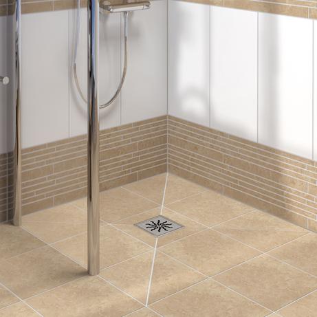 lux elements tub flush with the floor shower bases. Black Bedroom Furniture Sets. Home Design Ideas