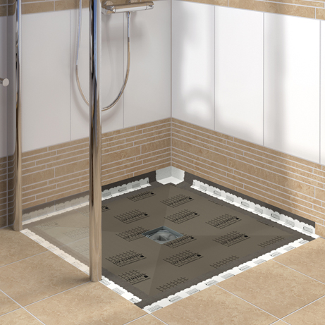 Ready To Be Tiled Entirely According To Your Personal Taste And Colour  Preference. The Flush With The Floor Shower Base ...