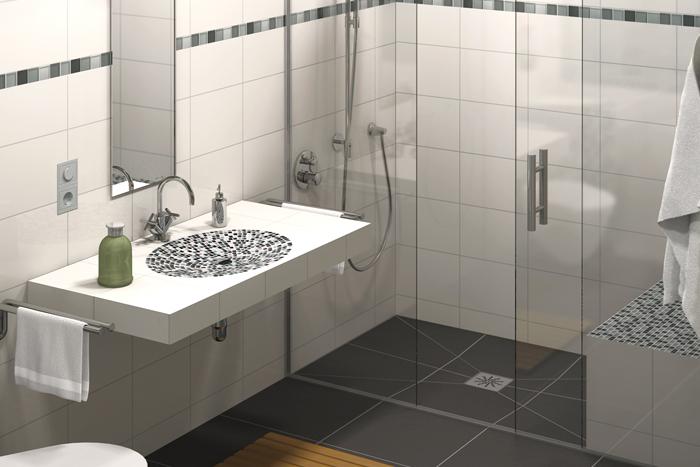 Lux elements tub bersicht punktentw sserung for Construire une douche avec receveur
