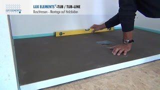 lux elements tub line bol receveur de douche pour remplacement de baignoire. Black Bedroom Furniture Sets. Home Design Ideas
