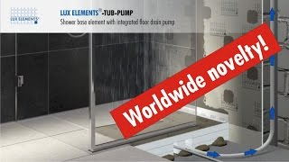 Nice Flush With The Floor Shower Base TUB PUMP With Integrated Floor Drain Pump
